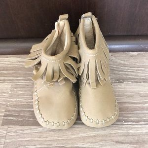 Other - Fringe moccasin ankle booties